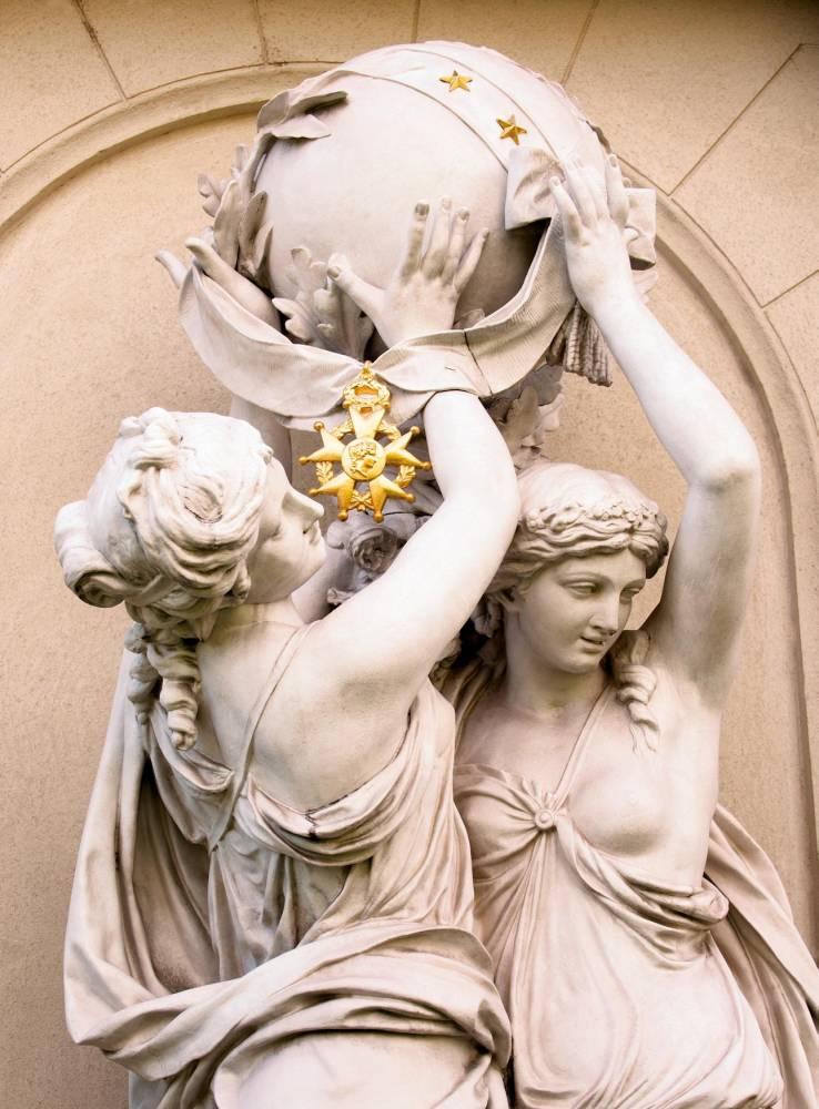 Légion d'honneur, insigne, décoration, sculpture, hôtel de Salm, palais de la Légion d'honneur, Paris, ©  David Bordes/Éditions Internationales du Patrimoine