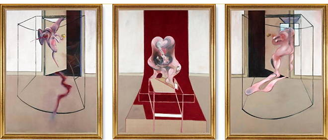 Francis Bacon, << Inspired by the Oresteia of Aeschylus >> (1981).