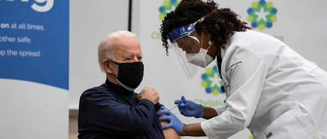 Le president Joe Biden recoit son vaccin contre le Covid-19, le 21 decembre 2020 (photo d'illustration).