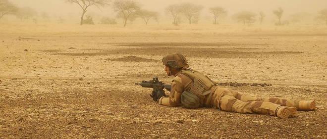 Un soldat francais de l'operation Barkhane en 2019 au Mali.