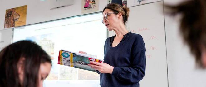 Sophie Gauyet enseigne le latin a des quatriemes du college Maison Blanche de Clamart.
