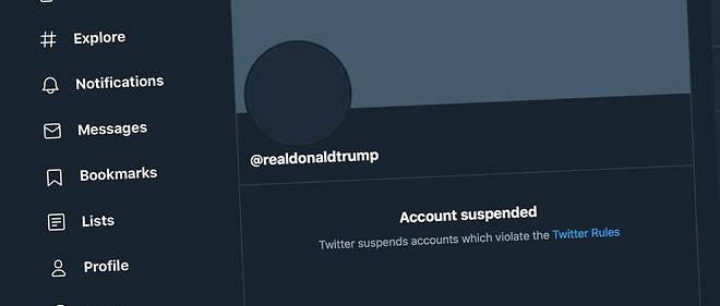 Apres l'assaut du Capitole du 6 janvier, Twitter a decide de suspendre le compte de Donald Trump.