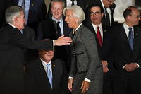 Christine Lagarde, présidente de la BCE, et son homologue de la Fed, Jerome Powell.