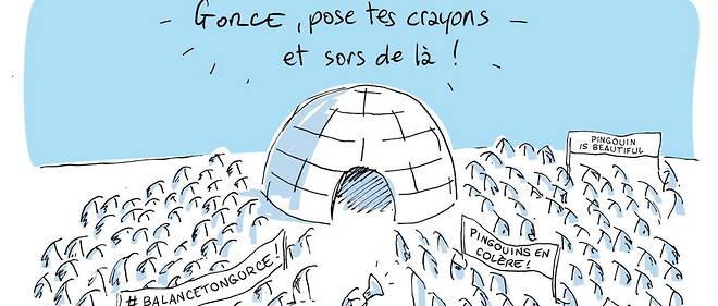 Un dessin de Dusault pour soutenir Xavier Gorce.