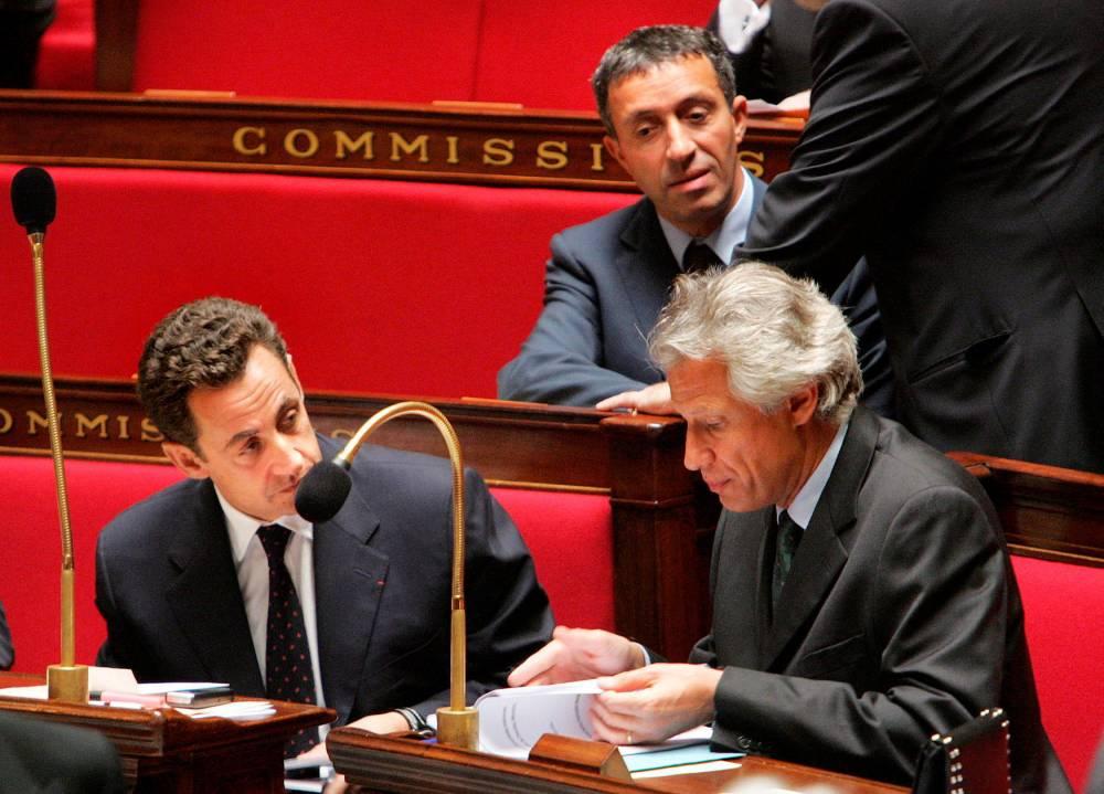 Dominique de Villepin, Azouz Begag, Nicolas Sarkozy ©  JACK GUEZ / AFP