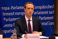 Mark Zuckerberg lors de son audition devant la Commission européenne en 2018.