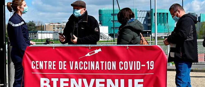 Centre de vaccination a Rennes.
