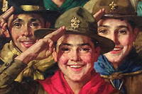 « An Army of Friendship » , Norman Rockwell. 1933. Boy Scouts of America; 1933 «  Boys' Life » , février 1934.