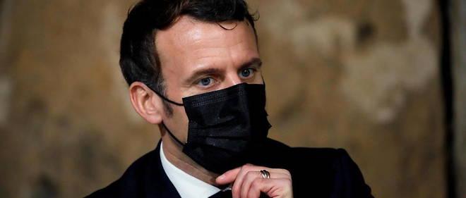 Emmanuel Macron le 12 janvier.