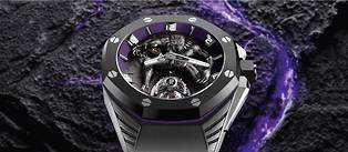 "<p style=""text-align:justify"">Montre Royal Oak Concept << Black Panther >> Flying Tourbillon. Serie limitee 250 exemplaires."