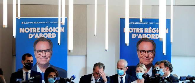 Renaud Muselier, mercredi 28 avril, apres l'annonce de sa candidature a la region Paca.