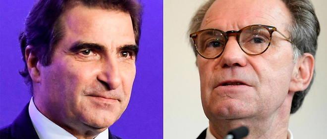A gauche, Christian Jacob, patron de LR ; a droite, Renaud Muselier, president et candidat LR en Paca : bras de fer et psychodrame interne pour les regionales.
