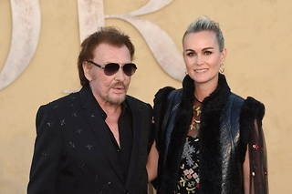 Johnny Hallyday et Laeticia en mai 2017.