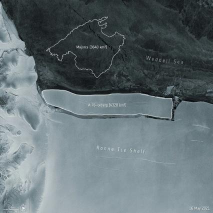 Le plus gros iceberg existant se detache de l'Antarctique
