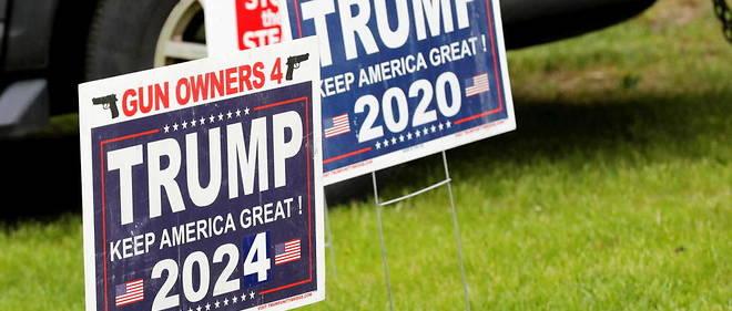 Dans le Michigan, on a deja plante un panneau appelant a voter Donald Trump en 2024.