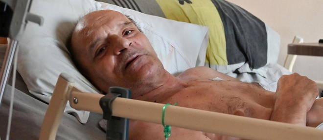 Alain Cocq, ici le 12 aout 2020, avait decide debut septembre d'arreter ses traitements et de se laisser mourir, dans un dernier combat pour faire changer la loi sur la fin de vie.
