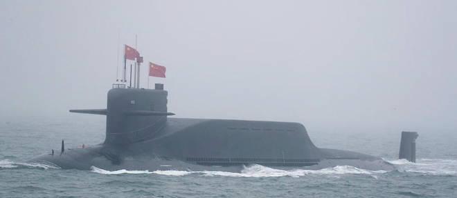 Sous-marin de type 094 de l'armee chinoise, en avril 2019.