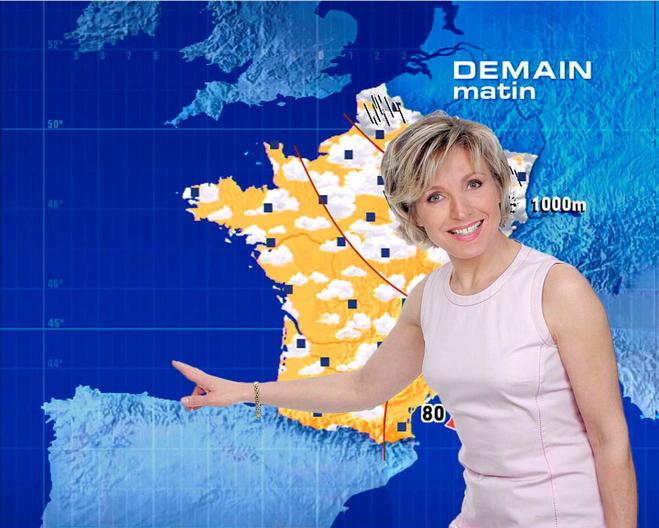 Évelyne Dhéliat, TF1, météo, ©  TF1-CHEVALIN / NUMERIQUE / TF1