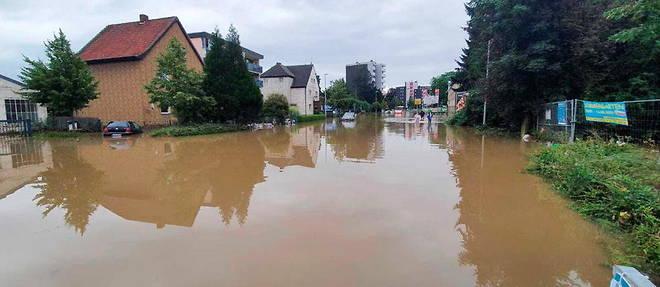 D'importantes inondations touchent l'Allemagne.