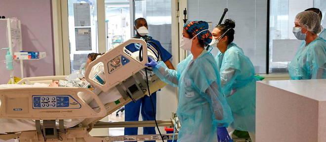 Entre les nouvelles entrees en reanimation et les sorties, il y a desormais 1 712 malades du Covid-19 pris en charge par les services de soins critiques dans les hopitaux francais. (Photo d'illustration)