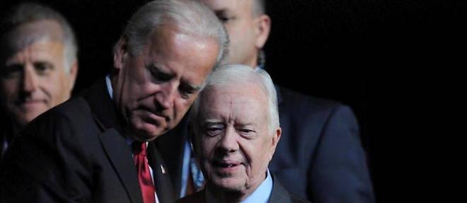Joe Biden et Jimmy Carter en 2008.