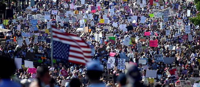 Lors de la Marche des femmes, a Washington samedi.