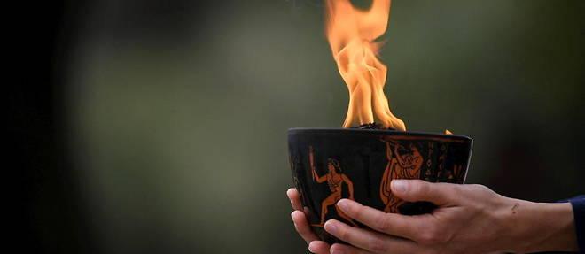 La flamme olympique sera donc allumee dans un stade antique d'Olympie. (Photo d'illustration)
