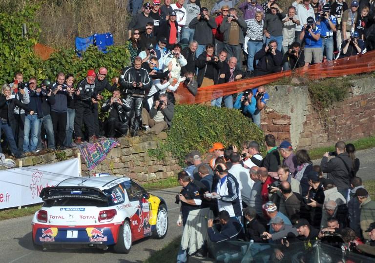 Le public du régionnal de l'étape est venu acclamer Sebastien Loeb, décidément sans rival dans sa discipline