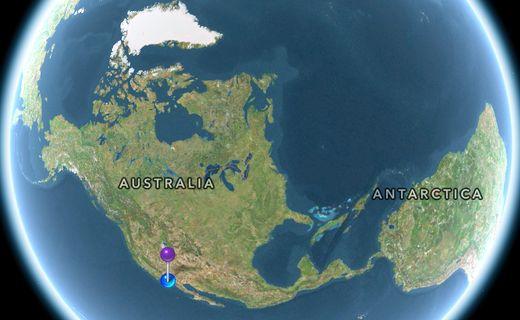 La dérive des continents vue par Apple...