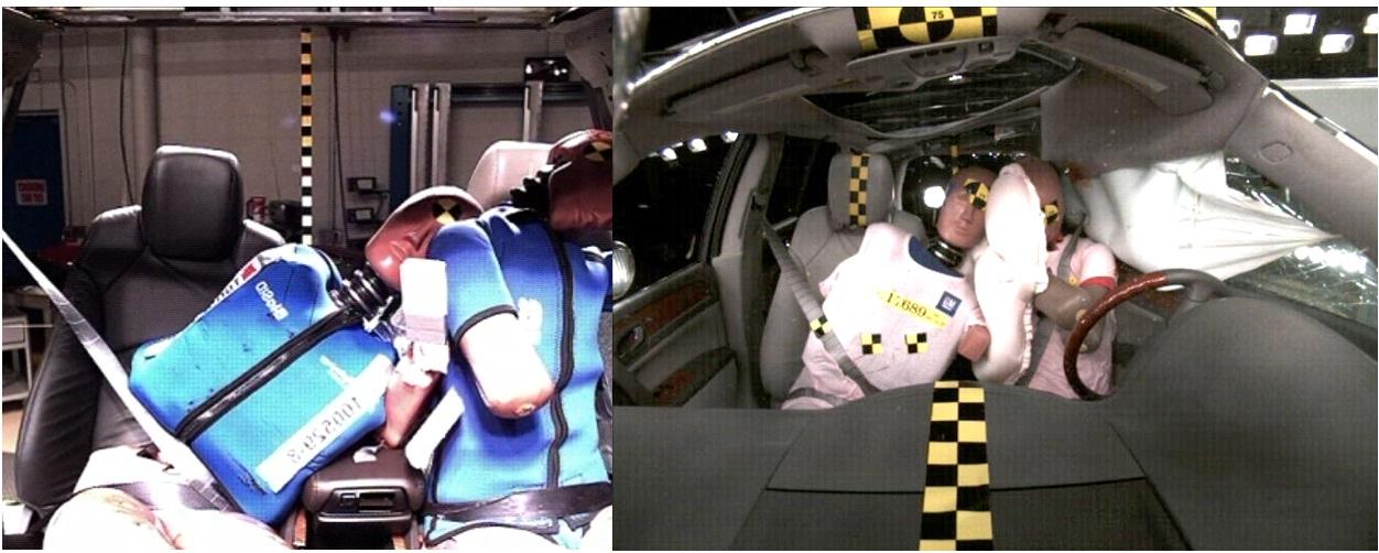 L'airbag central permet aussi d'éviter que les deux occupants avant ne se blessent mutuellement lors d'un choc latéral.