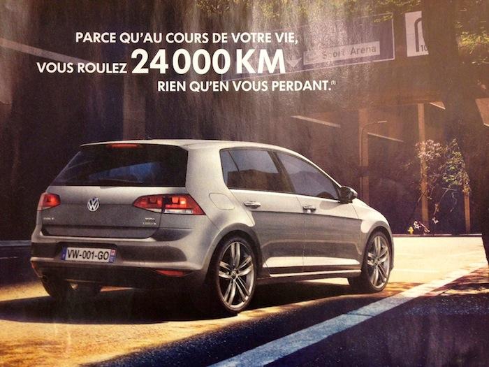Curieuse affirmation de VW pour sa nouvelle Golf