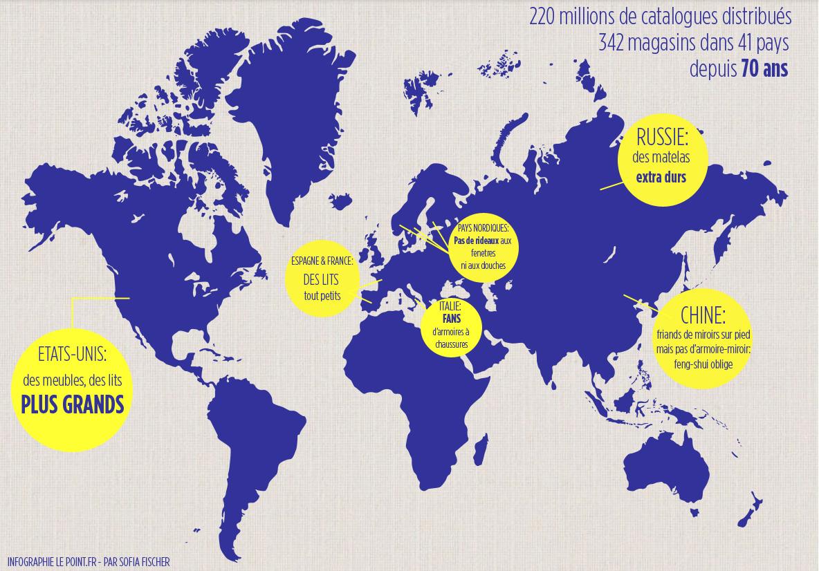 Ikea Espagne Carte.Quand Ikea Nous Parle De Mondialisation Le Point