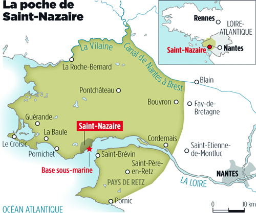Carte Nantes Saint Nazaire.Saint Nazaire Le Dernier Carre Allemand Le Point