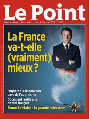 Couverture du Point N° 2367 du 11 janvier 2018