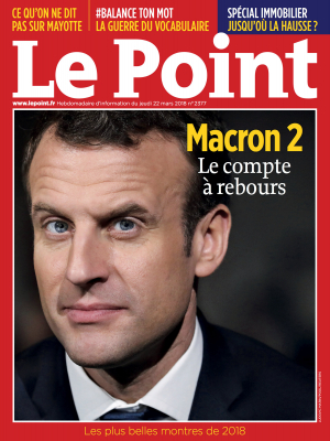 Couverture du Point N° 2377 du 22 mars 2018