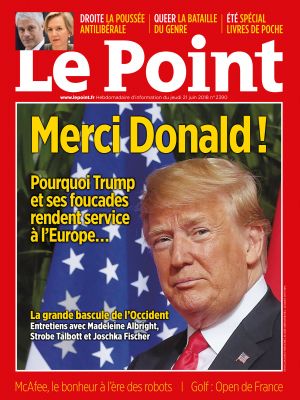 Couverture du Point N° 2390 du 21 juin 2018
