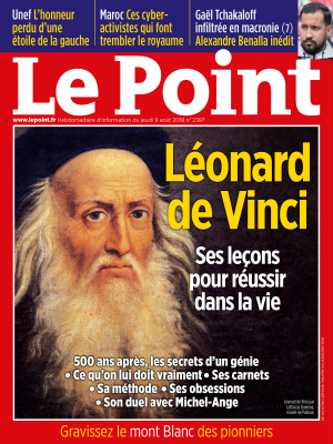Couverture du Point N° 2397 du 09 août 2018