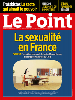 Couverture du Point N° 2402 du 13 septembre 2018