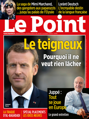 Couverture du Point N° 2406 du 11 octobre 2018