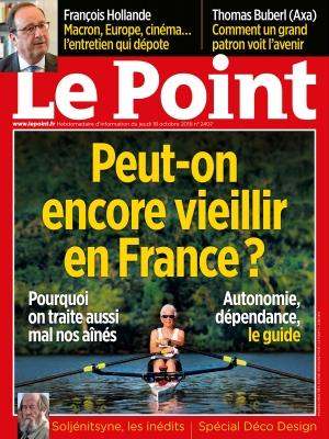 Couverture du Point N° 2407 du 18 octobre 2018