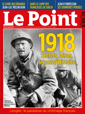 Couverture du Point N° 2410 du 08 novembre 2018