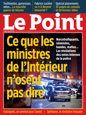 Couverture du Point N° 2411 du 15 novembre 2018