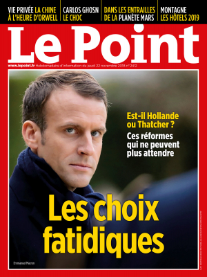 Couverture du Point N° 2412 du 22 novembre 2018
