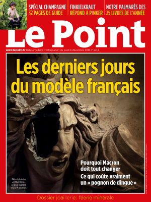 Couverture du Point N° 2414 du 06 décembre 2018