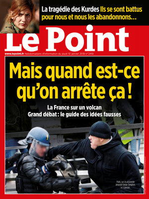 Couverture du Point N° 2419 du 10 janvier 2019