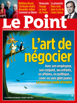 Couverture du Point N° 2420 du 17 janvier 2019