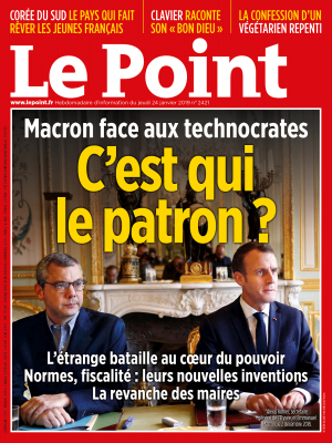 Couverture du Point N° 2421 du 24 janvier 2019