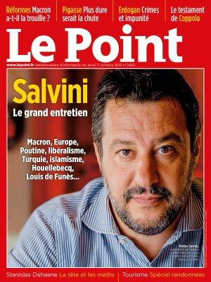 Couverture du Point N° 2460 du 17 octobre 2019