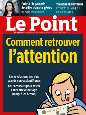 Couverture du Point N° 2474 du 23 janvier 2020