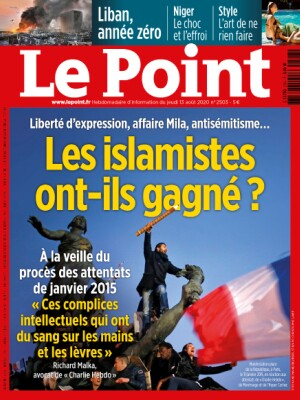 Couverture du Point N° 2503 du 13 août 2020